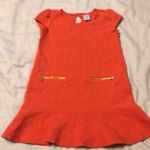 Orange zipper dress